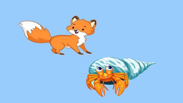 La zorra y el cangrejo de mar